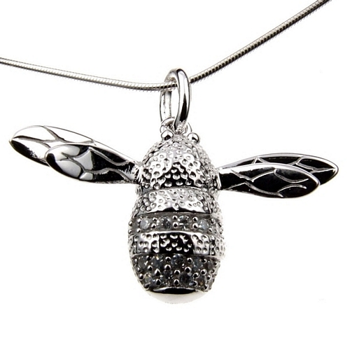 Sterling Silver Bee Charm Necklace - Beekeeper