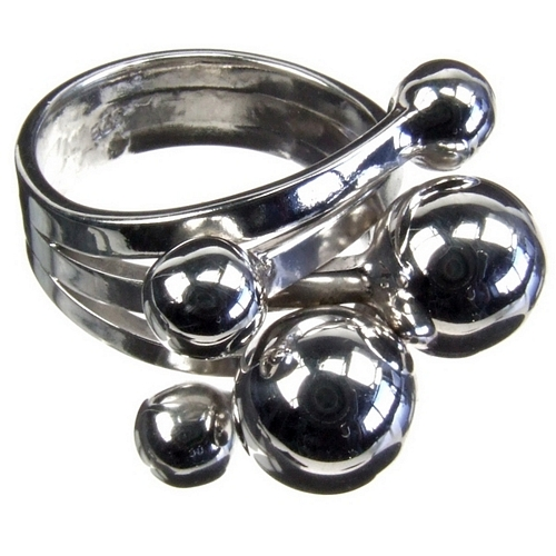Silver Solar System Ring
